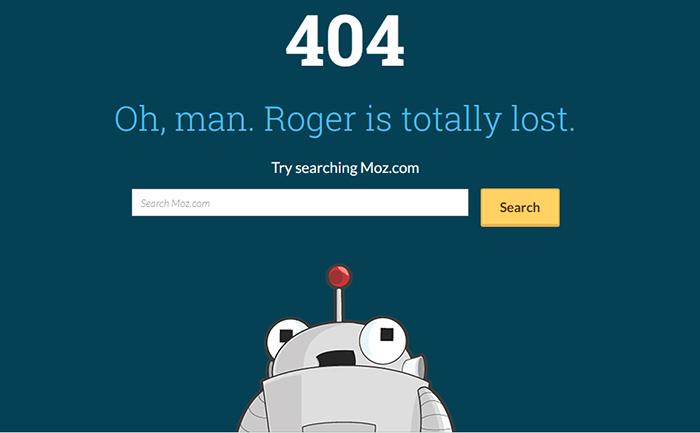 ارور 404 از سایت moz