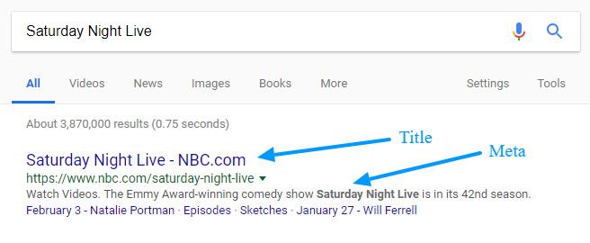 تگ تایتل در گوگل