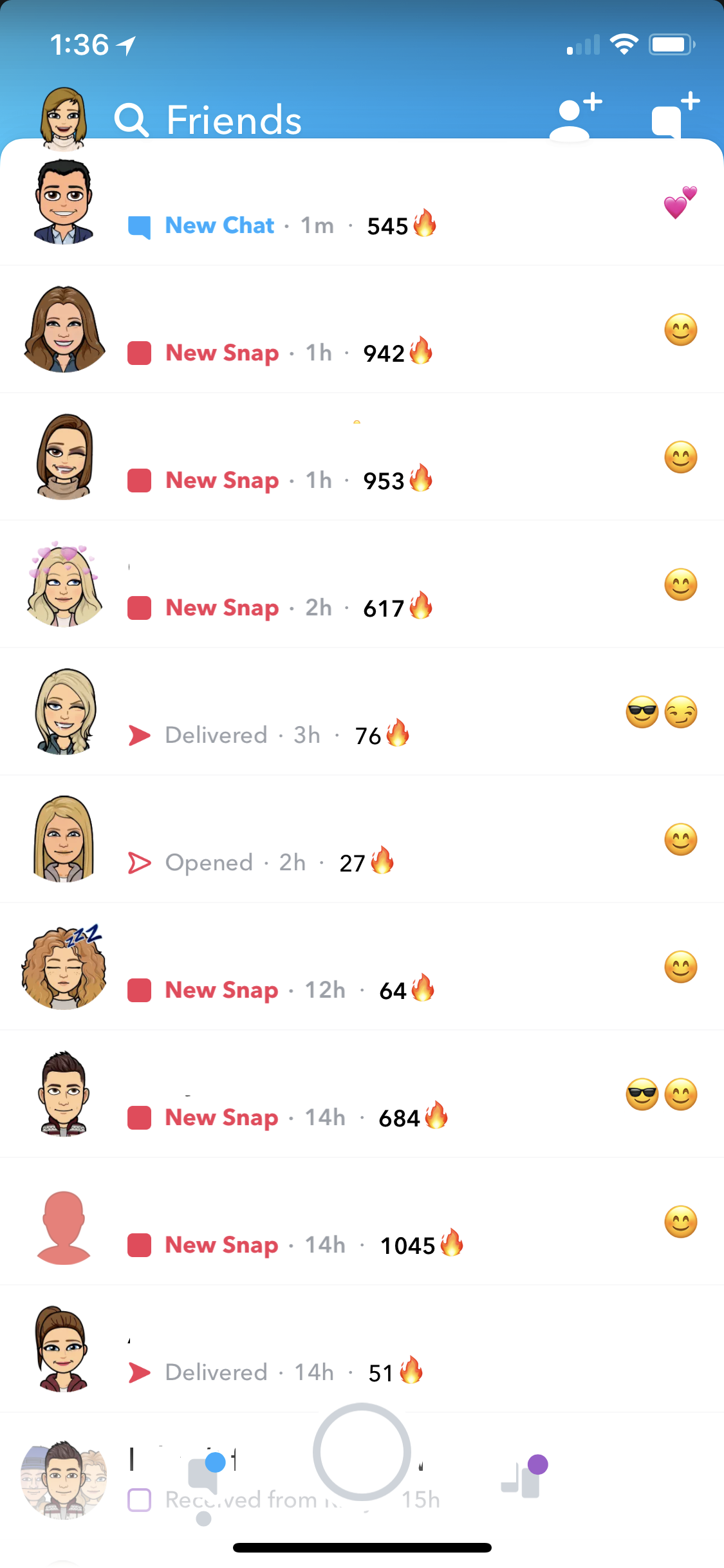 ایجاد ارتباط در snapchat