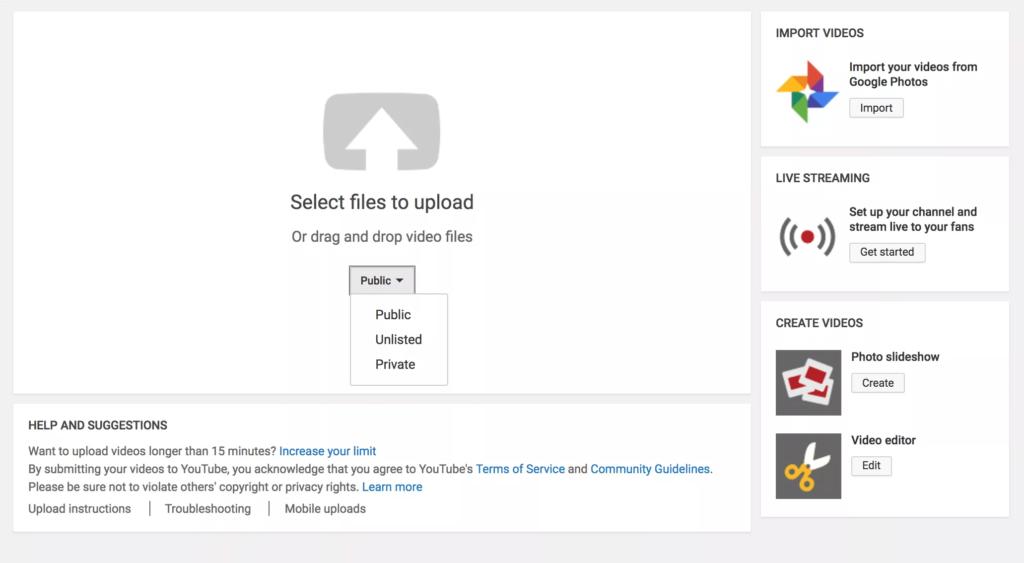آپلود فیلم در یوتیوب