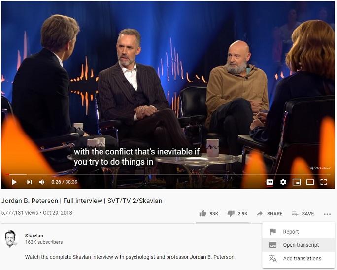 تبدیل ویدیو به متن در یوتیوب