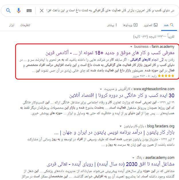 تشخیصکپی بودنمتن در گوگل