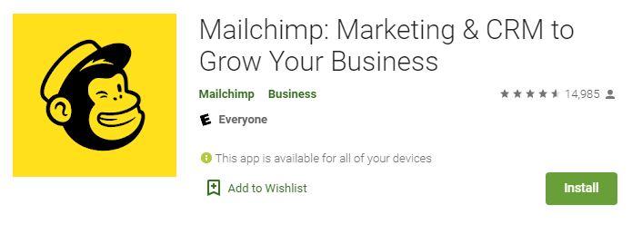 اپلیکیشن میل چیمپ برای اندروید