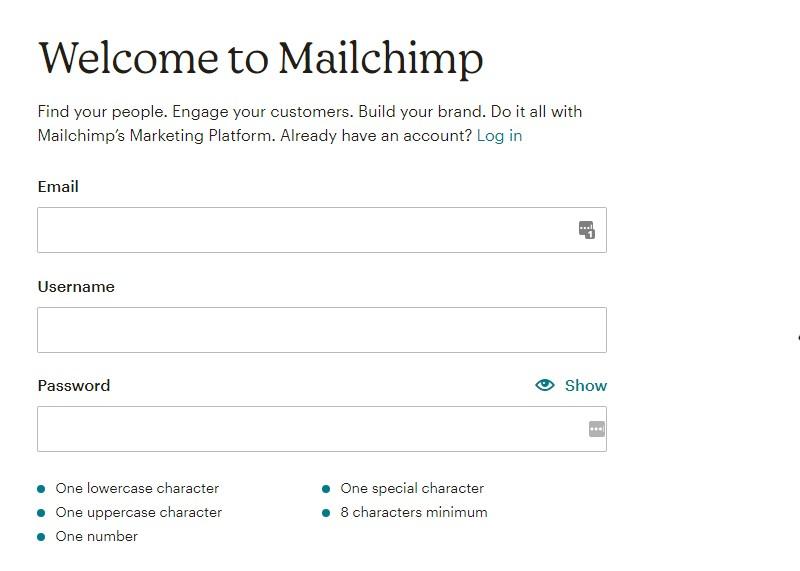 ثبت نام میل چیمپ